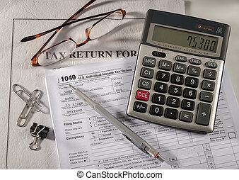 számvitel, adót kiszab
