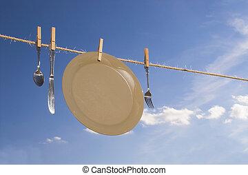 száradó, edények