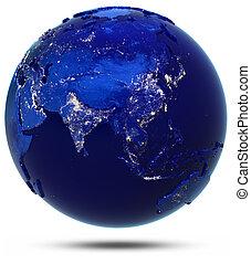 szárazföld, ázsia, országok