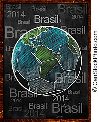 szárazföld labda, brasil, képben látható, tábla