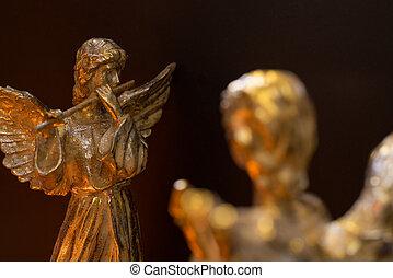 szárnyas, angyal, játék furulya