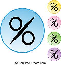 százalék cégtábla