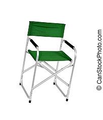szék, elszigetelt, white