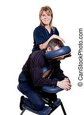 szék, masszázs