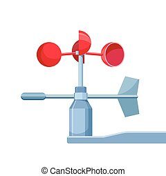 szélmérő, eszköz, használt, helyett, mérés, szélsebesség