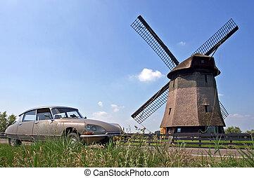 szélmalom, holland