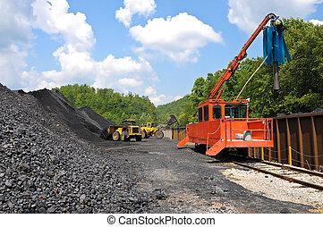 szén, berakodás