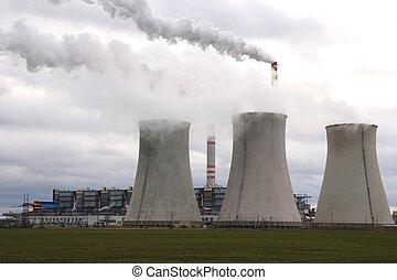 szén, berendezés, erő