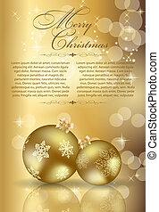szépség, elvont, háttér., év, új, karácsony