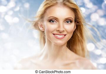 szépség, nő
