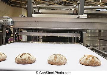 szériagyártás, kenyér, sült