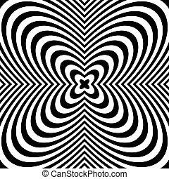 szétrepedés, kilövellő, elvont, radiális, monochrom, background:, pattern.