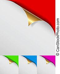 szín, arany-, becsavar, oldal, háttér.
