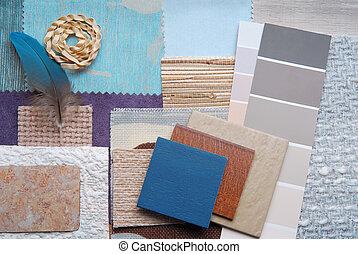 szín, belső tervezés, kiválasztás