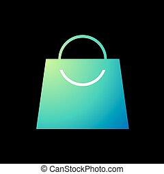 szín, bolt, kedves, táska, ikon