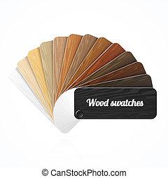 szín, erdő, swatches, idegenvezető
