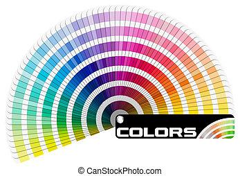 szín, félkör, paletta, -, pantone