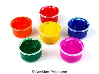 szín, festék befőz, dabs