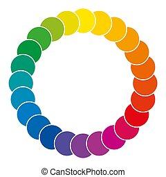 szín, gördít, elkészített, közül, karikák