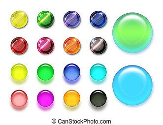 szín, gombok