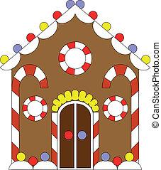 szín, gyömbéres mézeskalács, 02, épület