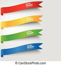 szín, háttér., elvont, vektor, címke