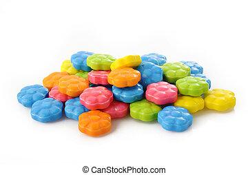 szín, kellemes, cukorka