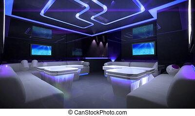 szín, kibernetikai, klub, irányított, szoba