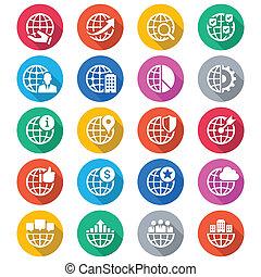 szín, lakás, ügy icons
