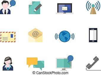 szín, lakás, ikonok, -, kommunikáció