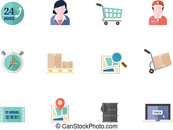 szín, lakás, -, munkaszervezési, ikonok