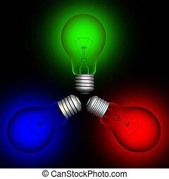 szín, lightbulbs#2