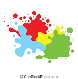 szín, loccsan, háttér
