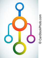 szín, marketing, karika, üres, folyamatábra
