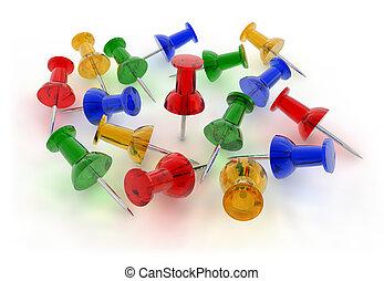 szín, pushpins