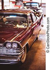 szín, szüret, első lámpa, részletez, autó