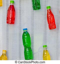 szín, víz, áttetsző, palack, műanyag