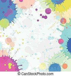 szín, vízfestmény, elvont, loccsanás, vektor