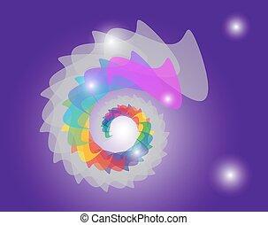 szín, vector., wheel.