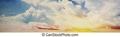színes, ég, és, napkelte