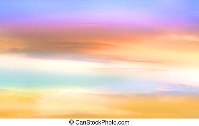 színes, ég, háttér