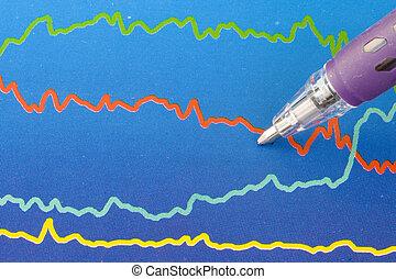 színes, ügy, diagram