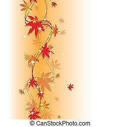 színes, ősz kilépő, seamless, motívum