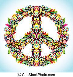 színes, béke