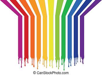 színes, csíkoz, noha, savanyúcukorka, vektor