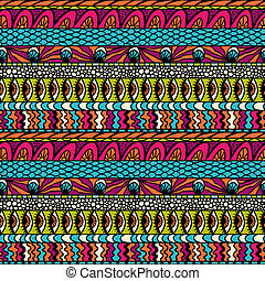 színes, díszítés, pattern., seamless, vektor, ethnicity