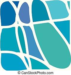 színes, elvont, foltos, alakzat, pohár ablak, inserts.