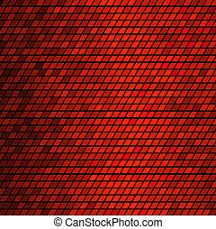 színes, elvont, vektor, mózesi, háttér, tiles., piros