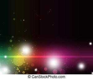 színes, elvont, vibráló, fény, homály, izgalmas