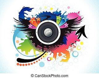 színes, elvont, zene, művészi, háttér